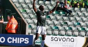 Argyle v Burton Albion, Freddie Celebrates