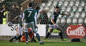 Argyle v Stevenage - Niall Canavan Celebrates