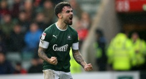 Argyle v Swindon - Dom Telford Celebrates