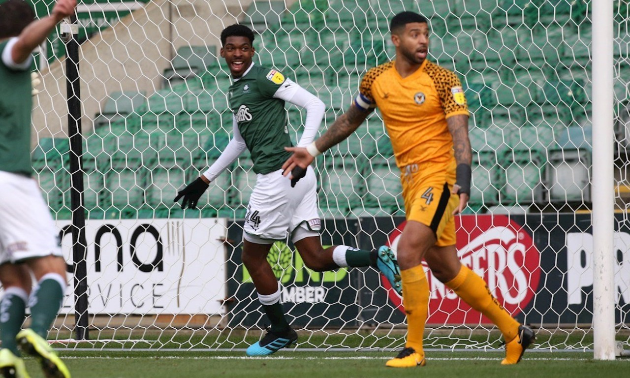 pafctv.co.uk - Tyreeq Bakinson scors against Newport County